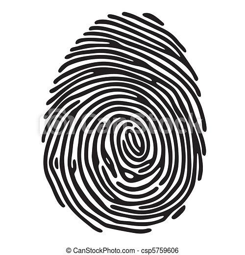 impresión, dedo - csp5759606