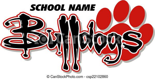 Los Bulldogs diseñan con huella de pata - csp22102860