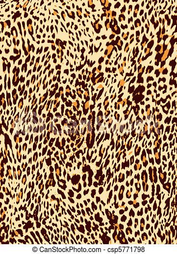 Fondo de huellas de leopardo animal - csp5771798