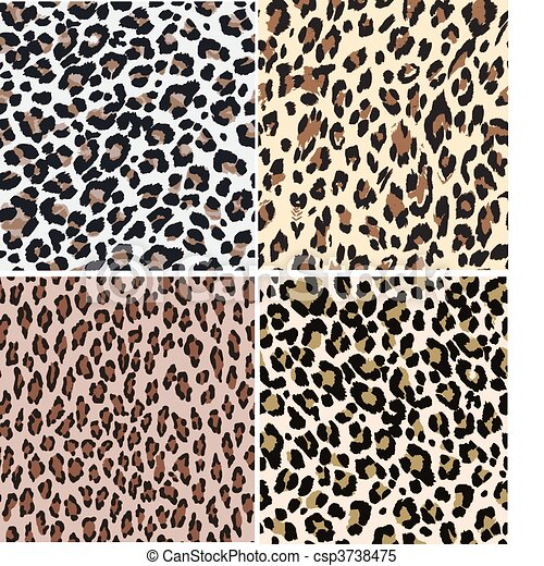 impresión, leopardo, seamless, animal - csp3738475