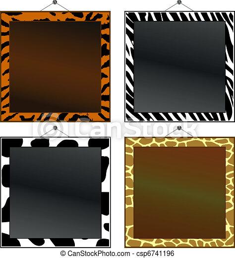 marcos de huellas de animales - csp6741196