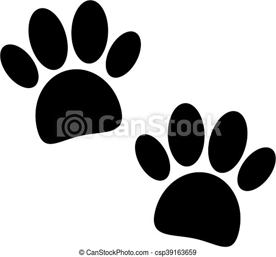 Una huella de pata negra - csp39163659