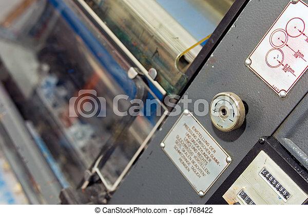 impresión, papel - csp1768422