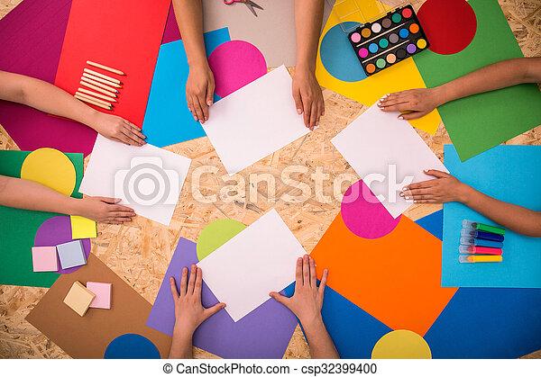 impresión, papel, hojas - csp32399400