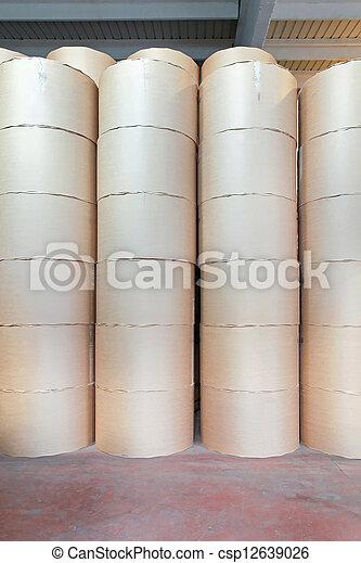 impresión, papel, rollos - csp12639026