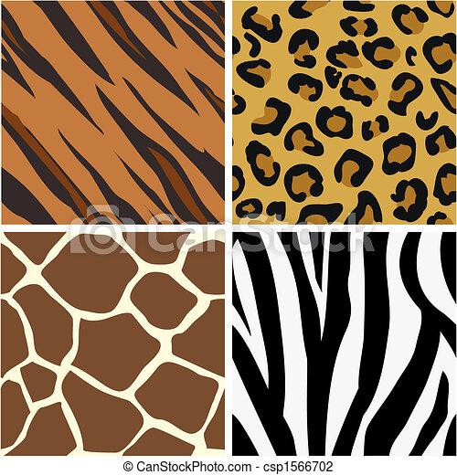 Patrones de huellas de animales sin costura - csp1566702