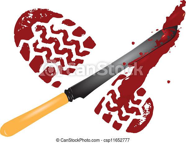 Suelas de sangre - csp11652777