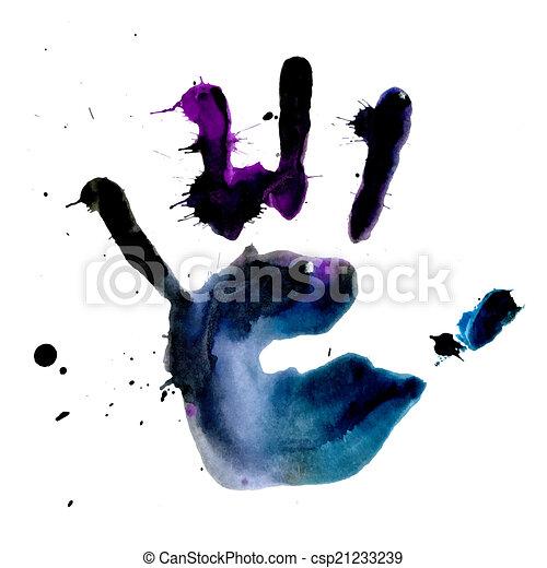 Ink huella de mano - csp21233239