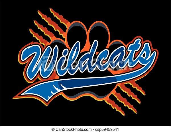 Wildcats con huella de pata - csp59459541