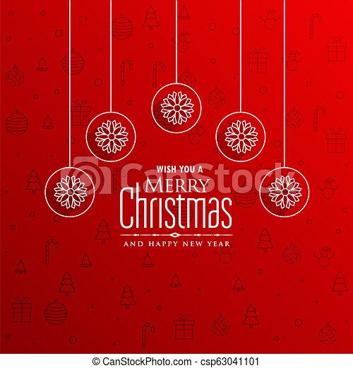 Dibujos Impresionantes De Navidad.Impresionante Saludo Diseno Feliz Navidad Rojo