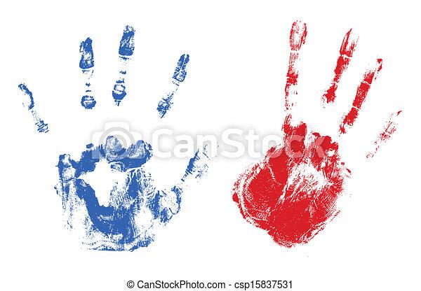 Impresiones, -, día, independencia, mano. Arte, estados unidos de ...