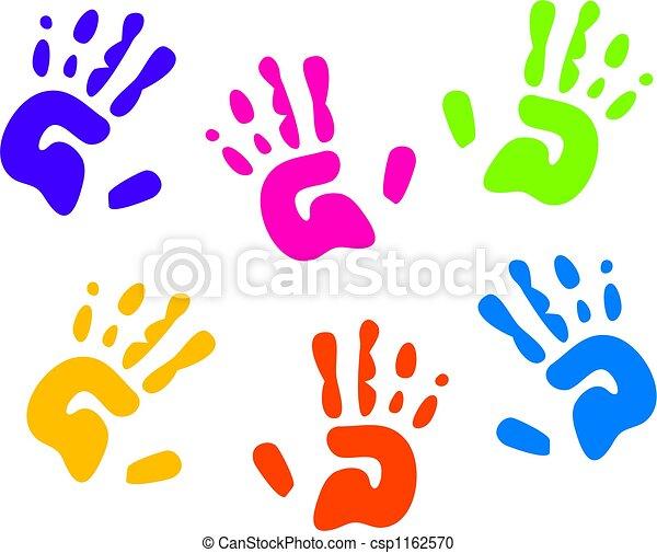 Huellas de manos - csp1162570