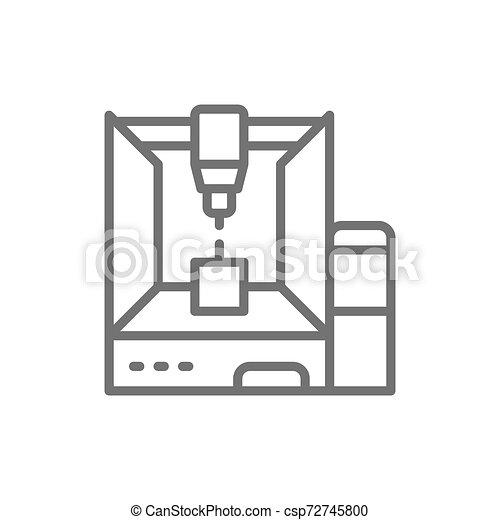 Impresora 3D profesional, modelo tridimensional. - csp72745800