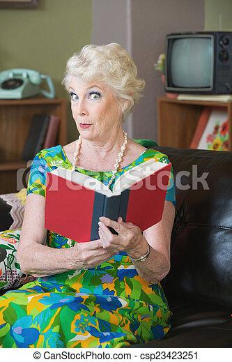 Impressed Book Reader - csp23423251