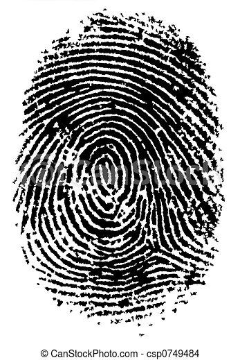 impression, 2, doigt - csp0749484
