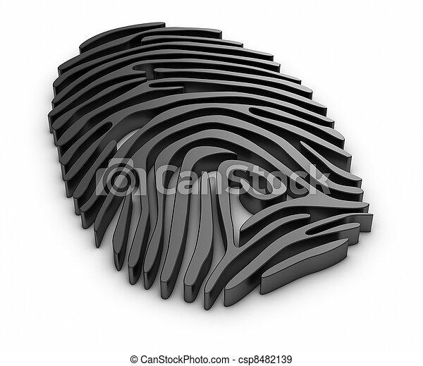 impression, doigt - csp8482139