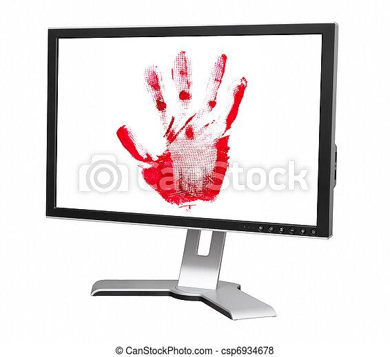 impression, informatique, paume, moniteur - csp6934678