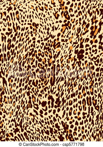 impression, léopard, animal, fond - csp5771798
