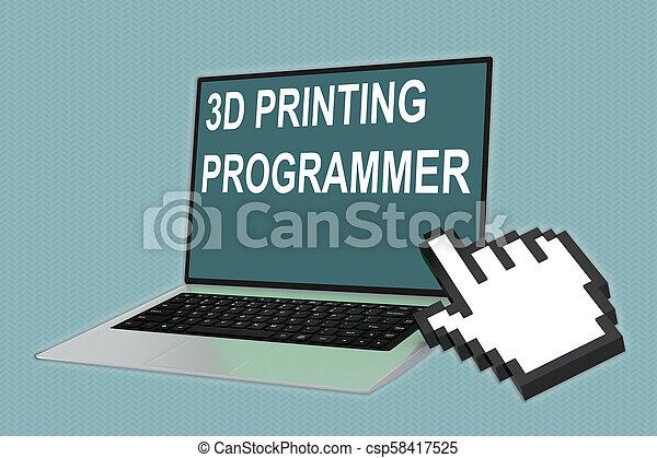 impression, programmeur, concept, 3d - csp58417525
