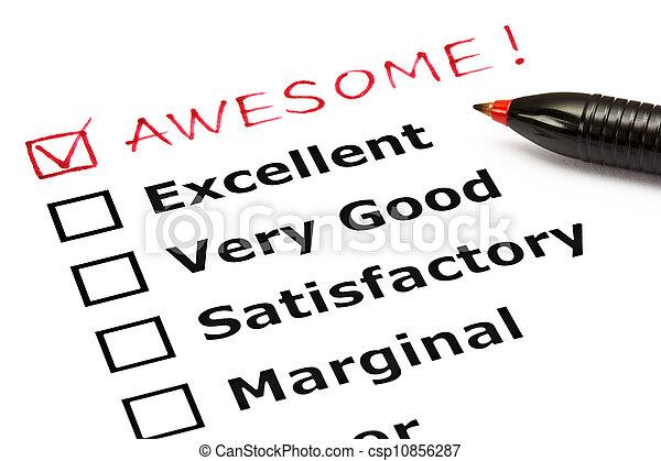 impressionnant, évaluation, formulaire - csp10856287