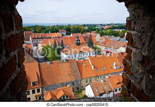 Impressive buildings in Reszel, Poland - csp58255415