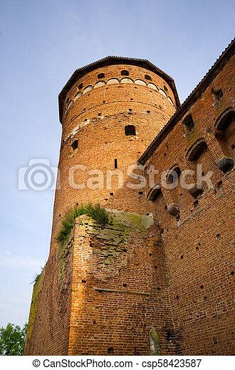 Impressive buildings in Reszel, Poland - csp58423587