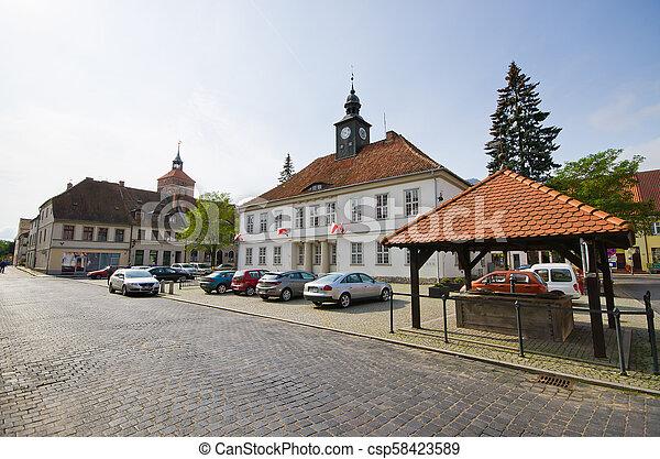 Impressive buildings in Reszel, Poland - csp58423589