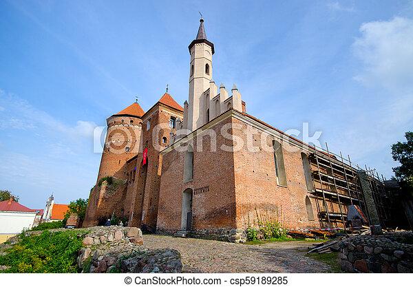 Impressive buildings in Reszel, Poland - csp59189285