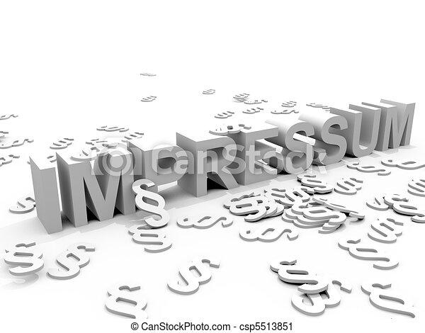 impressum - csp5513851