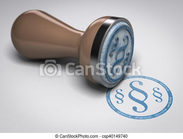 Impressum, German Imprint Symbol - csp40149740