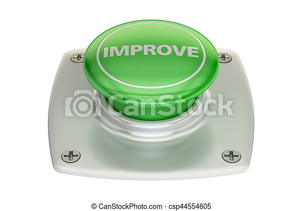 Improve green button, 3D rendering - csp44554605