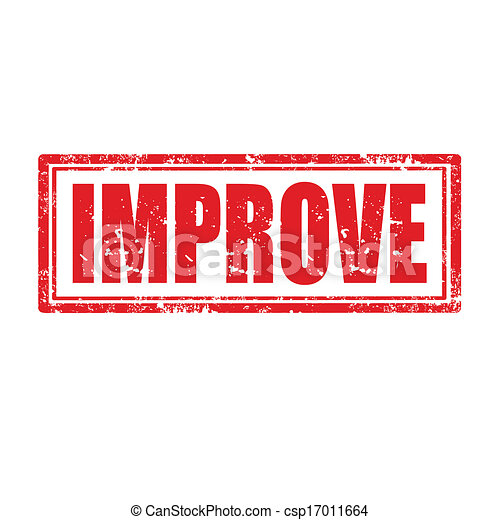 improve stamp grunge rubber stamp with word improve vector