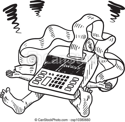 Impuesto y esbozo de estrés financiero - csp10380660