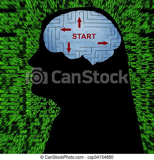 início, mente - csp34154880