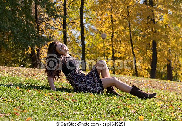 in autumn park - csp4643251
