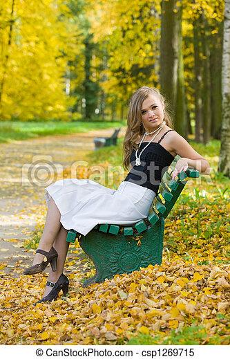 in autumn park - csp1269715