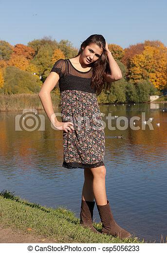 in autumn park - csp5056233