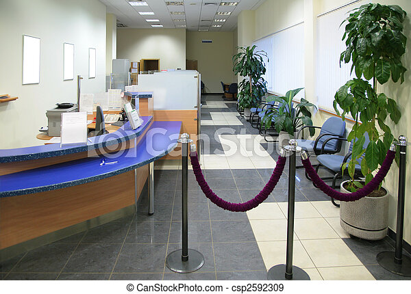 in bank office - csp2592309
