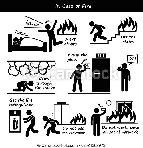 In Case of Fire - csp24382973