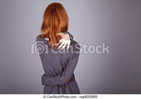 in dress in studo. - csp6052685