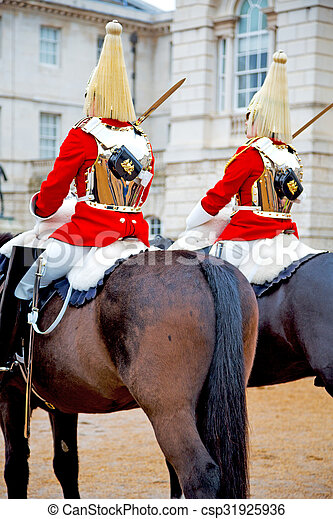 in england horse and cavalry for the queen - csp31925936