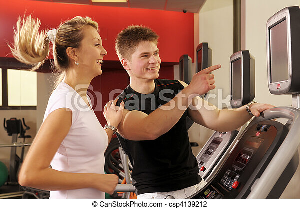 In fitness centre - csp4139212