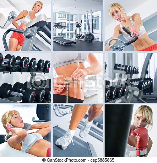 in gym - csp5885865