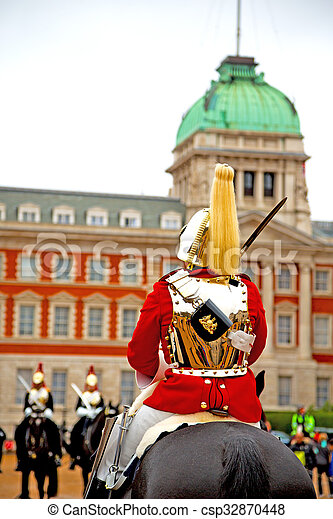 in london england and cavalry for the queen - csp32870448