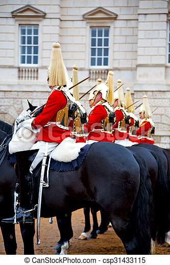 in london england horse and cavalry the queen - csp31433115
