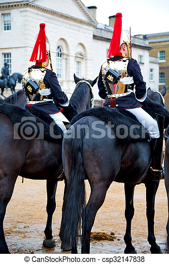 in london england horse and the queen - csp32147838