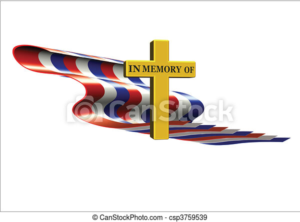 in memory of on flag - csp3759539