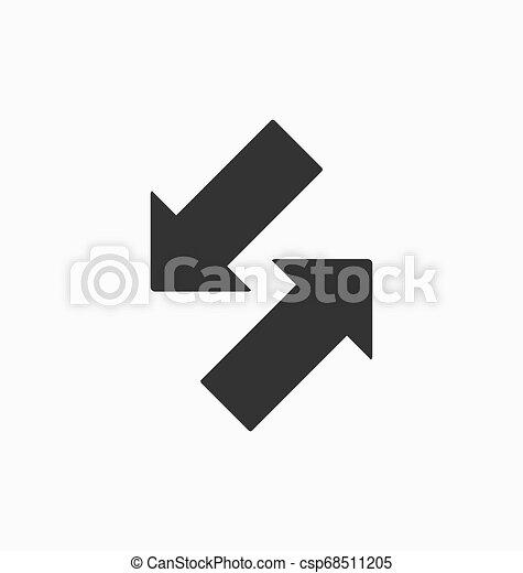 In out arrows icon vector. - csp68511205