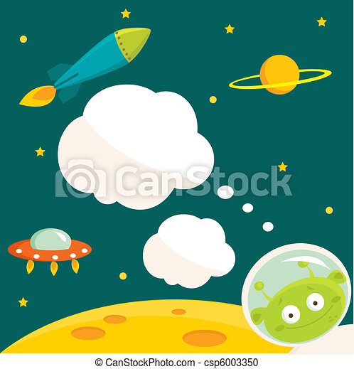 In space party invitation with place for your text stock