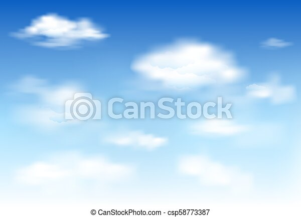 In The Clear Sky High Floating Clouds